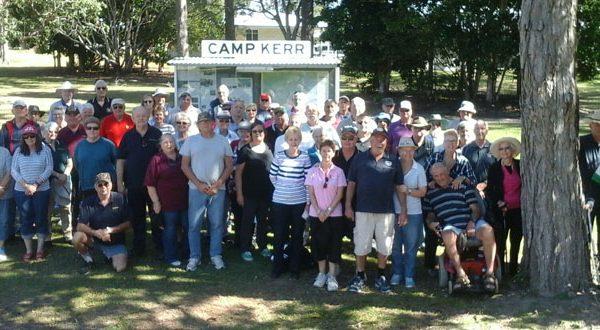 Camp Kerr visit by Standown Vets